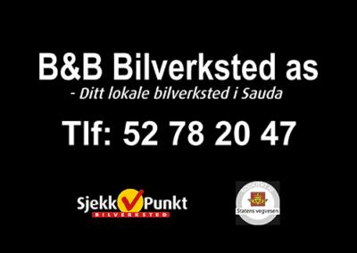 Logo til B&B bilverksted AS med telefonnummer 52 78 20 47