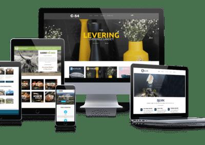 Mockup av forskjellige nettside vi leverer på Portal Norge