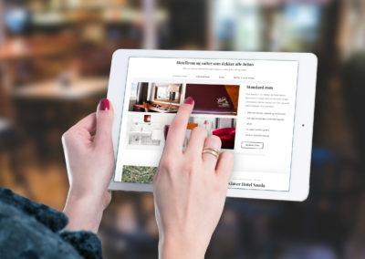 Mockup av Nettside for bestilling av rom