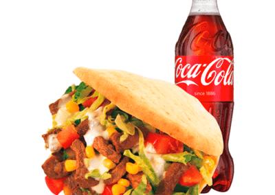 Kebab i Pita med Coca cola